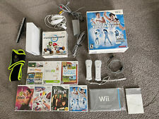 NINTENDO WII System Console Lot Games DDR Mario Kart Zumba Controllers
