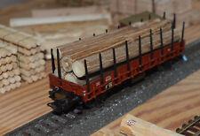 Ladegut Holz, Stämme Naturholz ca. 111 - 113 mm lang Ø 8,00 - 11,00 mm, 8 Stück