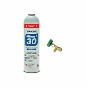 HYCHILL AC GAS MINUS 30 GAS CAN & INSTR to REPLACE R r. 13 4 aa SAFE + BONUS TAP