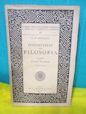 Herbart INTRODUZIONE ALLA FILOSOFIA Classici Filosofia Moderna a cura di Croce