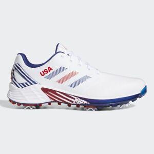 NEW Adidas Mens ZG21 Golf Shoes Red/White/Blue 11 Medium