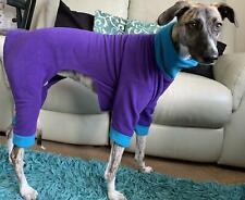 "** NEUF polaire chien Pyjamas 28"" Longueur-Costume Grand WHIPPET/petit banc **"