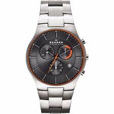 Relojes de pulsera titanio resistente al agua, para hombre