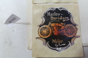 """Harley Motor Co 3"""" round sticker decal OLD 1950s vintage collectibles EPS19665"""