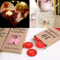 10Pcs Romantic Tealight Scented Candles Birthday Candles Decor Light Non-sm T7R3