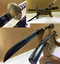 1060 CARBON STEEL BLACK  SHARP NICE TSUBA JAPANESE SAMURAI KATANA SWORD