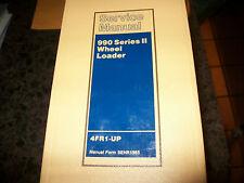 CAT CATERPILLAR 990 SERIES II WHEEL LOADER SERVICE SHOP REPAIR BOOK MANUAL BCR