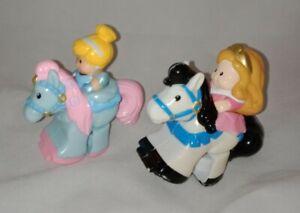 Fisher Price Little People KLIP KLOP Disney Princess Cinderella & Aurora