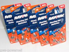 30 x Varta Rayovac Acoustic Typ 13  PR 48/ PR48 - 310mAh Hörgerätebatterie