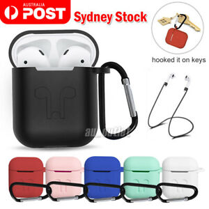3IN1 Shockproof For Airpods case Cover Skin Anti Lost Strap Holder Airpod case 1