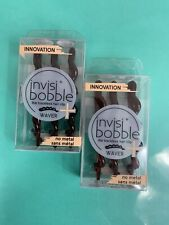 INVISIBOBBLE WAVER PLUS LOT of 2/ 3 pk Traceless Hair PRETTY DARK 3424