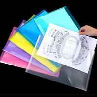 PACK OF 5 Snopake Polyfile A7 Portrait Popper Wallet File With Press Stud Clear