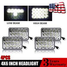 "4x6""  Sealed LED Headlights for Peterbilt 378 Kenworth T800 Freightliner FLD120"