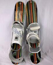 Snowblade Package, 75cm FiveForty WIDE Ski Blades, M/L Spice bindings