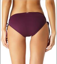 Anne Cole Women's Alex Solid Side Tie Adjustable Bikini Swim Bottom size M