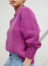 Isabel Marant Ivah Mohair/Wool Blend Sweater in Fuchsia Size FR 36 $625