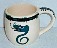 Art Pottery Mug Cup David Lambert Vtg Lightning Snake Haida Native #38
