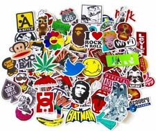 100 Sticker autocollant Cartoon Graffiti -Moto Velo Skateboard bagage voiture PC