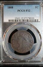 1808 Classic Head Large Cent : PCGS F12