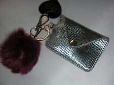 NEW  Faux Fur Key Chain WITH SMALL WALLET