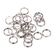 200pcs/Bag Strong 304 Stainless Steel Split Rings Double Loop Key Chains 8x0.6mm