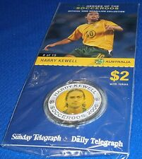 2006 Heroes of the Socceroos soccer medallion Harry KEWELL New in Pack + Card