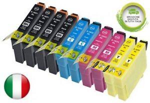 10 Cartucce T1285 Compatibili x Stampante Epson SX125 SX235W SX435W BX305FW KCMY
