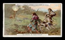santino-holy card AIGUEBELLE-missioni e conversioni celebri LA CACCIA DI S.UBERT
