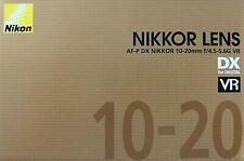 NIKON AF-P DX Nikkor 10-20mm f/4.5-5.6G VR Objektiv Lens, 72mm Gewinde, Schwarz