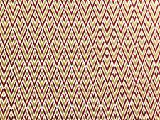 Maxwell Fabrics Quake Meteor Red Performance Upholstery Drapery Chenille Fabric