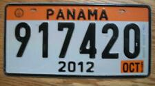 SINGLE PANAMA LICENSE PLATE - 2012 - 917420