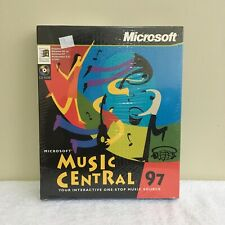 Microsoft Music Central 97 Vintage PC CD-ROM 1997 New Big Box Sealed