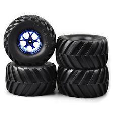 4Pcs Tires Wheel Rims 3003B For HSP Racing 1:10 RC Monster Bigfoot Car 12mm Hex