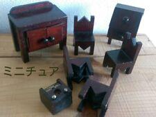 Antique wooden miniature furniture Japan retro popular rare beautiful EMS F/S!