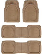 Motor Trend FlexTough Deep Dish Heavy Duty Rubber Car Floor Mats - 4 PC