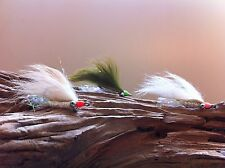 Bonefish Gotcha Bunny Fly assort/colors 3 Flies #4 Mustad 34007 stainless steel