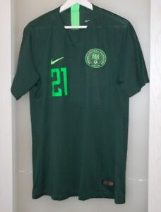 Match worn shirt Nigeria national team Napoli Italy Lille France Belgium Germany