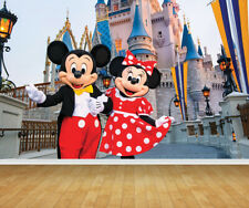 Disney Castle Mickey & Minnie Wallpaper Backdrop Feature Wall Mural Decal Print