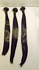 "Straight Hair Extension Bundle Size 16 / 18 /20"" Black"