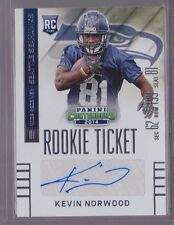 2014 Contenders Rookie Ticket Kevin Norwood Auto Rc