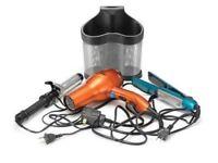 Polder Style Station 2 Storage For Hair Straightener Dryer Curler Organizer Pold