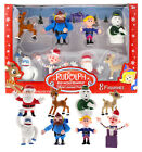 Rudolph the Red-Nosed Reindeer Figurines from the Classic Movie, Set of 8
