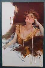 MARCHISIO - MADAME CON GRANDE COLLANA - 1916