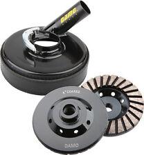"4"" Diamond Turbo Grinding Cup Wheel for Concrete/Granite  & 5"" Metal Dust Shroud"