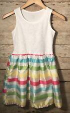 Girls Dress Size 10/12 The Childrens Place Sleeveless Summer White