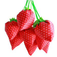Cute Shopping Bag Strawberry Folding Fold Up Reusable Compact Eco Recycling Use