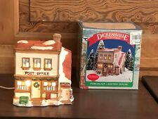 1990 Noma Dickensville Collectables Christmas Village Post Office with Box