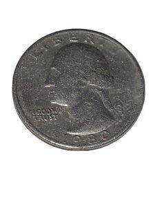 Circulated 1980 USA QUARTER DOLLAR COIN