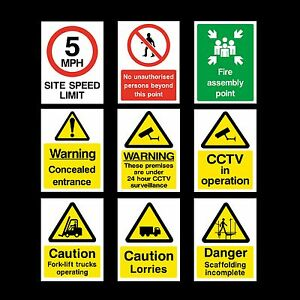 CCTV / LORRIES / FORKLIFT / FIRE ASSEMBLY - Sticker or 6mm Correx Sign