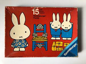 Vintage Ravensburger 1977 MIFFY 15 Piece Puzzle